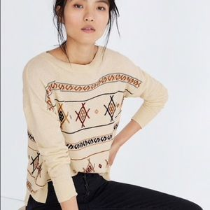 MADEWELL Embroidered Reseda Sweater